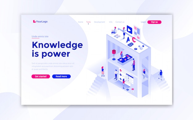 El conocimiento es la página de inicio