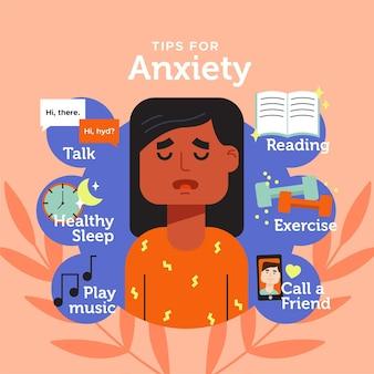 Consejos para ansiedad infografía