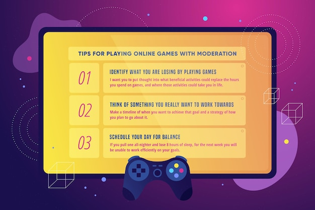 Consejos para jugar juegos en línea con moderación