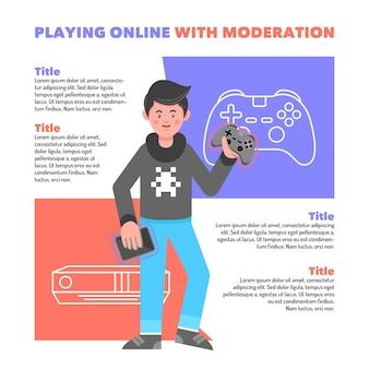 Consejos para jugar juegos en línea con plantilla de moderación