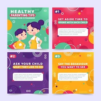 Consejos para padres saludables para instagram