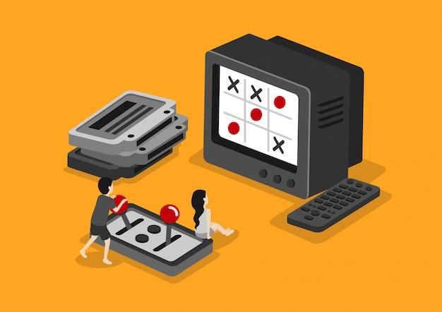 Consola de juegos y tv