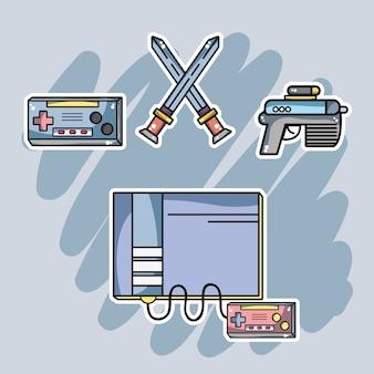 Consola de videojuegos con elementos electrónicos para jugar