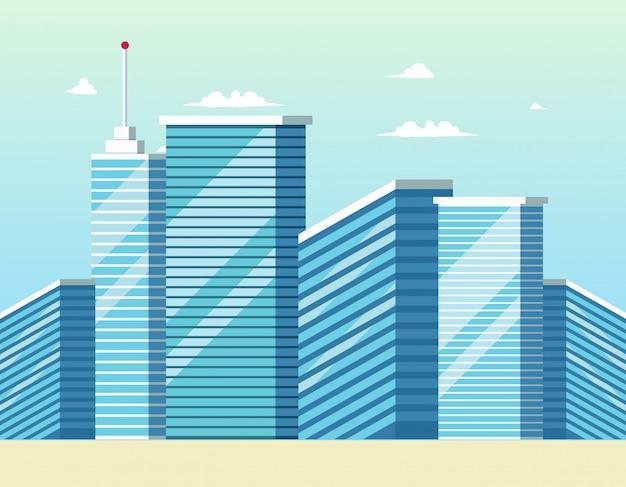 Construcción de edificios de la ciudad moderna concepto