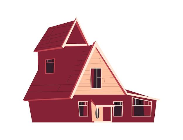Construcción de viviendas, ilustración de dibujos animados