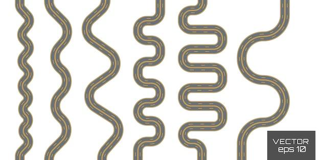 Constructor de carreteras en vista isométrica la calzada