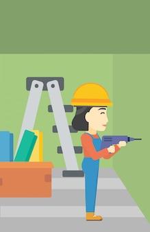 Constructor con perforador.