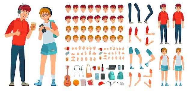 Constructor de personajes de adolescente