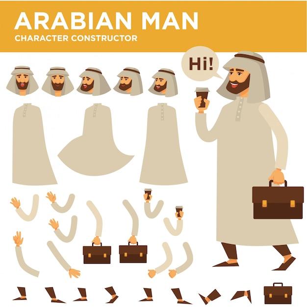 Constructor de vector de caracteres de hombre árabe