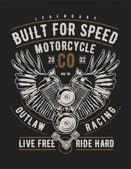 Construido para la motocicleta de velocidad