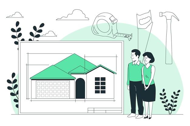 Construye la ilustración del concepto de tu hogar