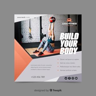 Construye tu banner de deporte corporal