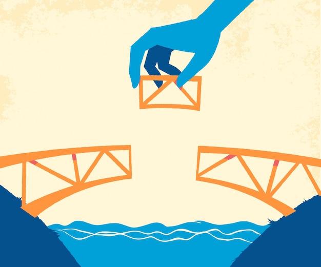 Construyendo el puente