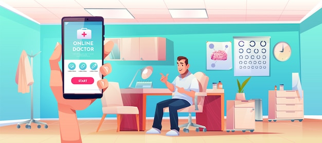 Consulta en línea del servicio de aplicaciones móviles para médicos