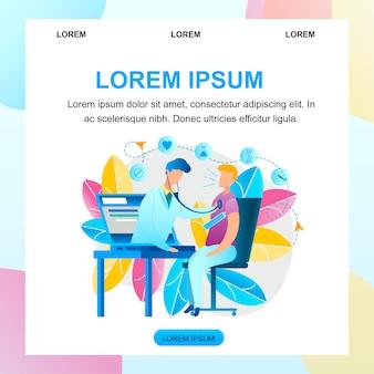 Consulta de medicina online de ilustración médico