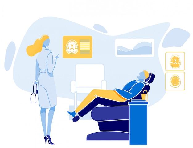 Consulta del médico neuropatólogo para el paciente