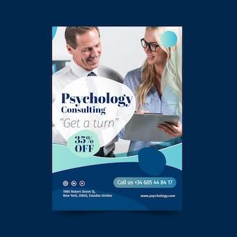 Consulta de psicología obtenga una plantilla de póster de turno