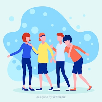 Consulte un concepto de ilustración de amigo