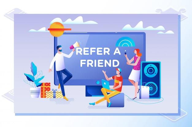 Consulte un concepto de ilustración vectorial amigo
