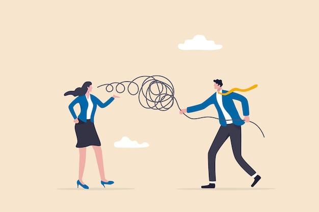Consultor de negocios, resolución de problemas o discusión de trabajo, buen oyente, mentor y concepto de gerente de soporte, gerente de negocios escucha los comentarios de los clientes o un colega hablando y ayuda a resolver el problema.