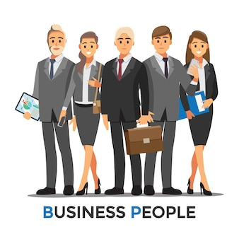 Consultoría de empresarios. ilustración de dibujos animados de concepto de personas de negocios