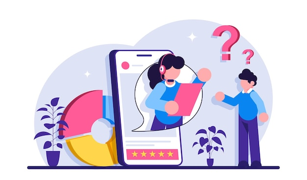 Consumidor haciendo ilustración de compra