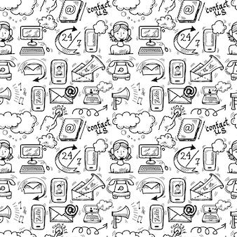 Contáctanos icons sketch
