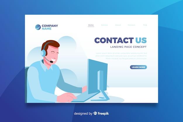 Contáctenos concepto página de inicio