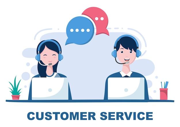 Contáctenos ilustración de servicio al cliente