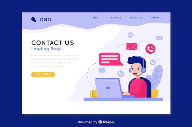Contáctenos página de inicio de la empresa