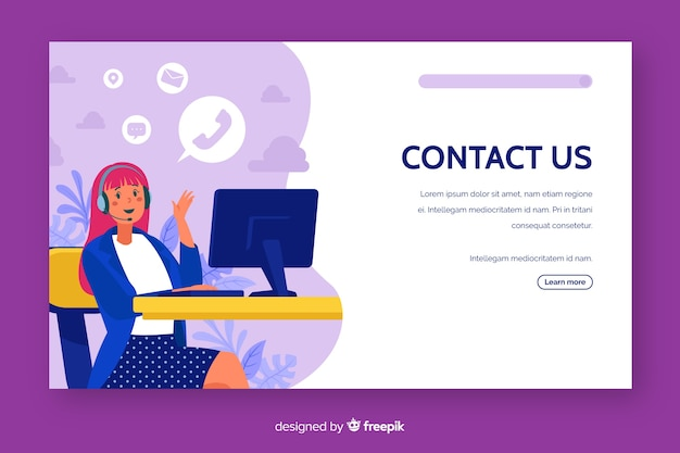 Contáctenos página de inicio de servicio al cliente