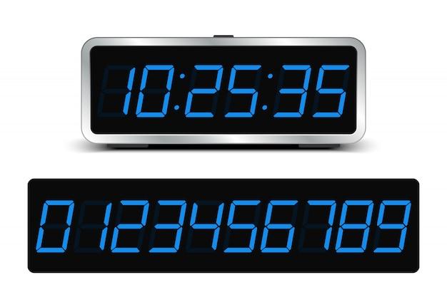 Contador regresivo. reloj digital