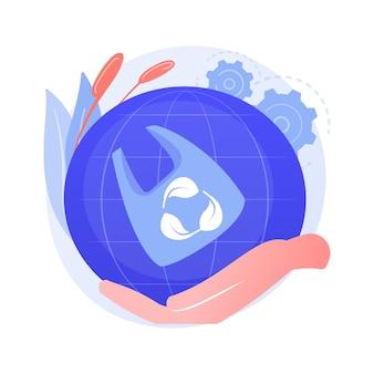 Contaminación ambiental. idea de protección del planeta. contaminación plástica, bolsa de celofán, uso de materiales biodegradables