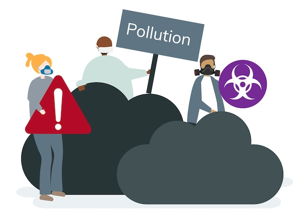 Contaminación atmosférica smog y mal aire
