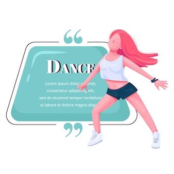 Contemplar cita de personaje de color de bailarina.