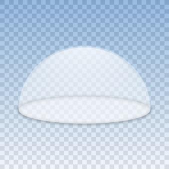 Contenedor de cúpula de vidrio