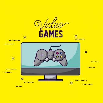 Contorl y pantalla, videojuegos