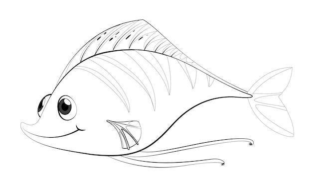 Contorno animal para peces lindos.