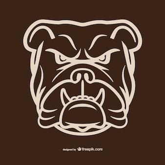 Contorno de cabeza de bulldog