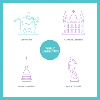 Contorno cuatro monumentos