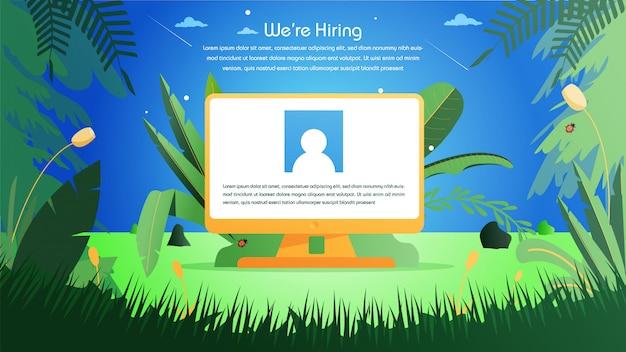 Contratación de empleo online.