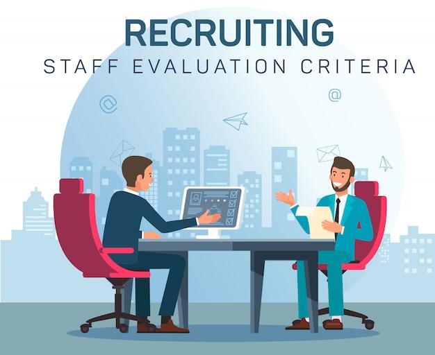 Contratación de personal evaluación de criterios de evaluación