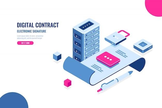 Contrato digital, firma electrónica