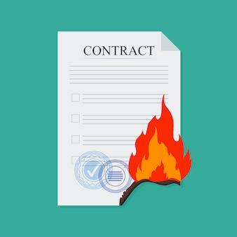 Contrato romper el fuego