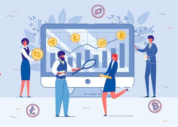 Control y análisis de cambios de moneda criptográfica.
