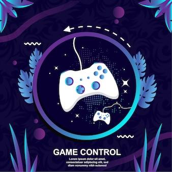 Control de diseño plano vector de fondo juego