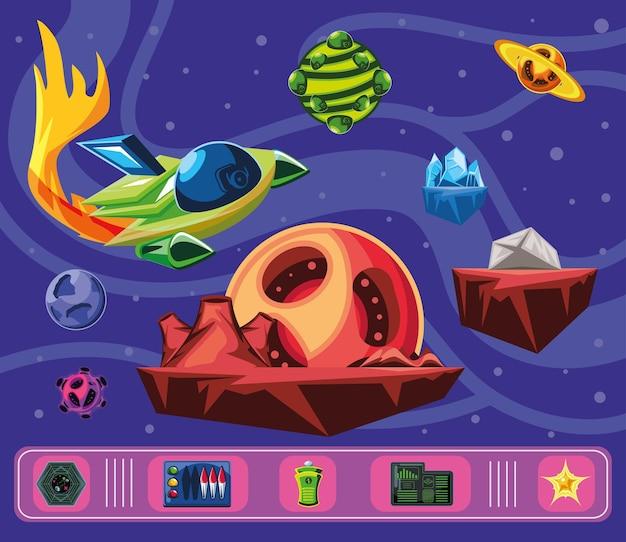 Control de pantalla de interfaz de videojuego