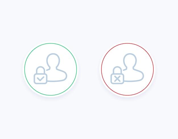 Control parental activado, desactivado iconos