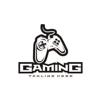Controlador de juego e logo deportivo