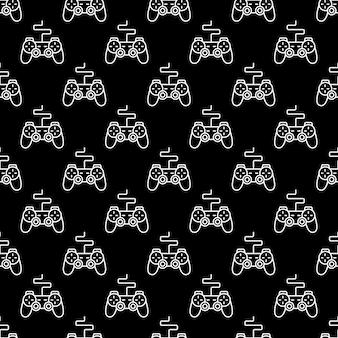 Controlador de juego o patrón sin costuras gamepad